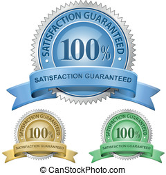 satisfação, 100%, guaranteed, sinais