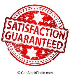 satisfação, selo, guaranteed