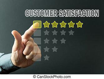 satisfacción, clasificación, cliente