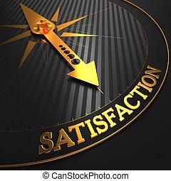 satisfacción, dorado, negro, compass.