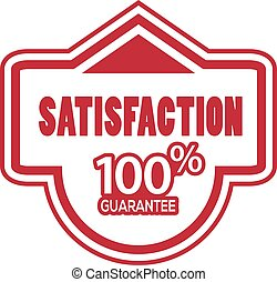 Satisfaction 100 percent guarantee label stock-vector