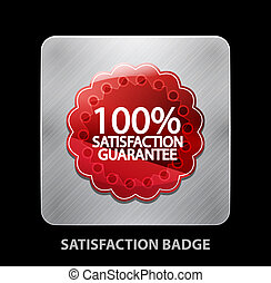 Satisfaction app icon - Vector illustration for your design