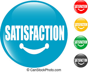 satisfaction, bouton, carrée, signe