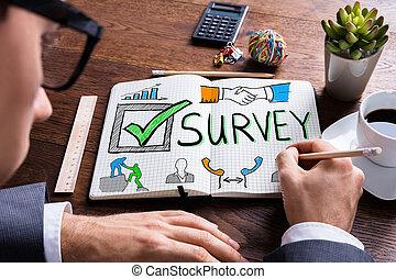satisfaction client, concept, enquête