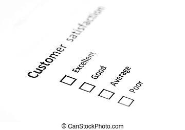 satisfaction client, enquête, formulaire