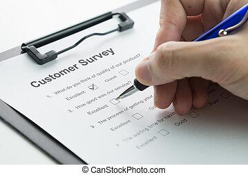 satisfaction client, enquête