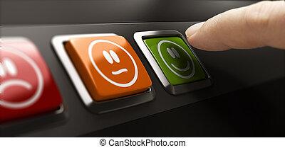 satisfaction, concept., gestion qualité, service, client