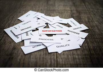 Satisfaction Concept - Paper strips with Satisfaction...
