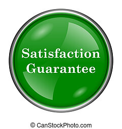 Satisfaction guarantee icon - Round glossy icon with white...