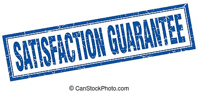 satisfaction guarantee square stamp