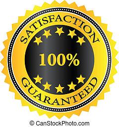 satisfaction, guaranteed, écusson