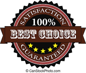 Satisfaction Guaranteed Badge Isolated On White