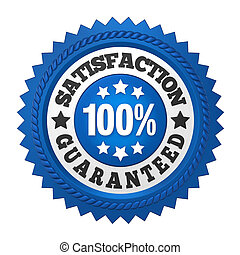 Satisfaction Guaranteed Label Isolated