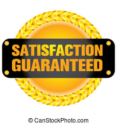 Satisfaction guaranteed - The Illustration of a gold seal...