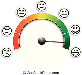 satisfaction meter 03 - detailed illustration of a customer ...