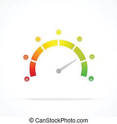 Satisfaction meter abstract vector logo