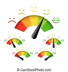 Satisfaction meter - Customer satisfaction meter with...
