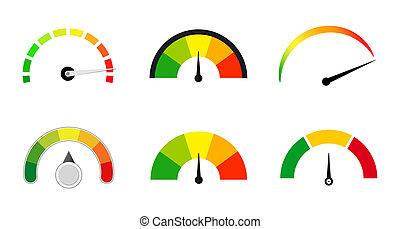 satisfaction meters scale set