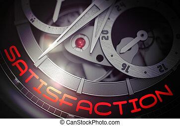 Satisfaction on Luxury Pocket Watch Mechanism. 3D.