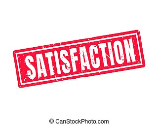 satisfaction red stamp style