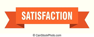 satisfaction ribbon. satisfaction isolated sign. ...