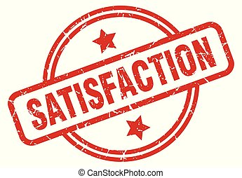 satisfaction round grunge isolated stamp