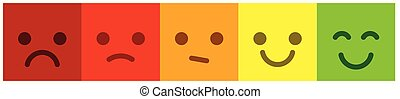 Satisfaction scale with colorful smileys buttons. Leave feedback.