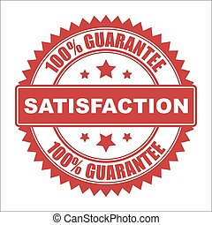 Satisfaction seal - Satisfaction guarantee vector seal,...