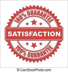 Satisfaction seal - Satisfaction guarantee vector seal,...