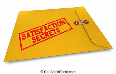 Satisfaction Secrets How to Satisfy People Customers Envelope 3d Illustration