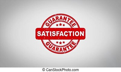 Satisfaction Signed Stamping Text Wooden Stamp Animation....