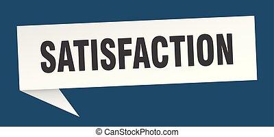 satisfaction speech bubble. satisfaction sign. satisfaction...