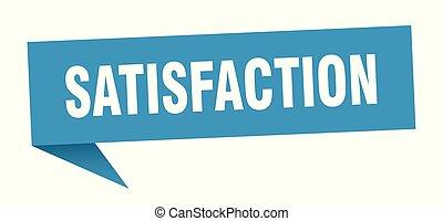 satisfaction speech bubble. satisfaction sign. satisfaction ...