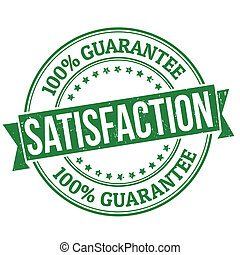 Satisfaction stamp - Satisfaction grunge rubber stamp on...