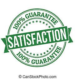 Satisfaction stamp - Satisfaction grunge rubber stamp on...