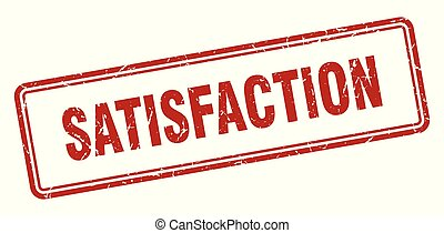 satisfaction stamp. satisfaction square grunge sign. ...