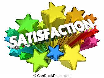 Satisfaction Stars Satisfied Customer Word 3d Animation
