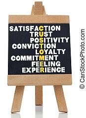 satisfaction, sur, termes, écrit