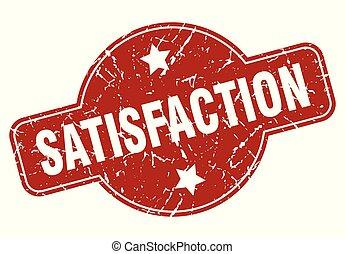 satisfaction vintage stamp. satisfaction sign
