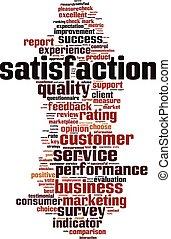 Satisfaction word cloud - vertical