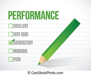 satisfactory performance review illustration design graphic over white background