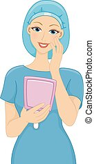 Satisfied Cosmetic Surgery Patient - Illustration of a...