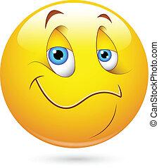 Satisfied Smiley Face - Creative Abstract Conceptual Design...