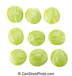 Parkia speciosa seeds or bitter bean on white background - ...