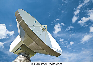 sattelite dish - A photography of a sattelite dish and white...