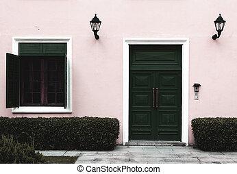saturación, ventana, puerta, abierto, bajo