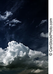 Saturated clouds. - Saturated storm clouds against the dark...