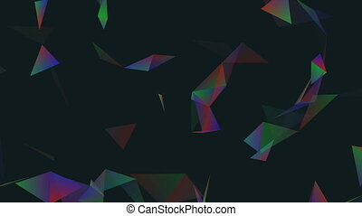 Saturated RGB space.Abstract plexus background for different...