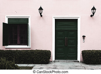 saturation, fenêtre, porte, ouvert, bas