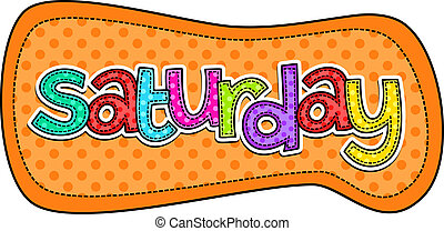 Saturday Stitch Text Label - A stitch style doodle typeface...